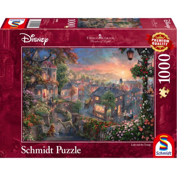 Schmidt Thomas Kinkade Disney Lady and the Tramp Jigsaw