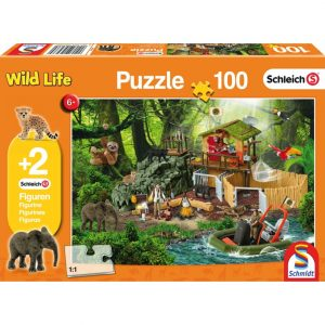 Schmidt Schleich Croco Research Station Children's Jigsaw