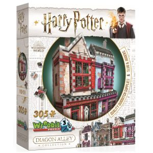 Wrebbit 3D Diagon Alley Collection Quidditch Supplies & Slug & Jiggers Puzzle