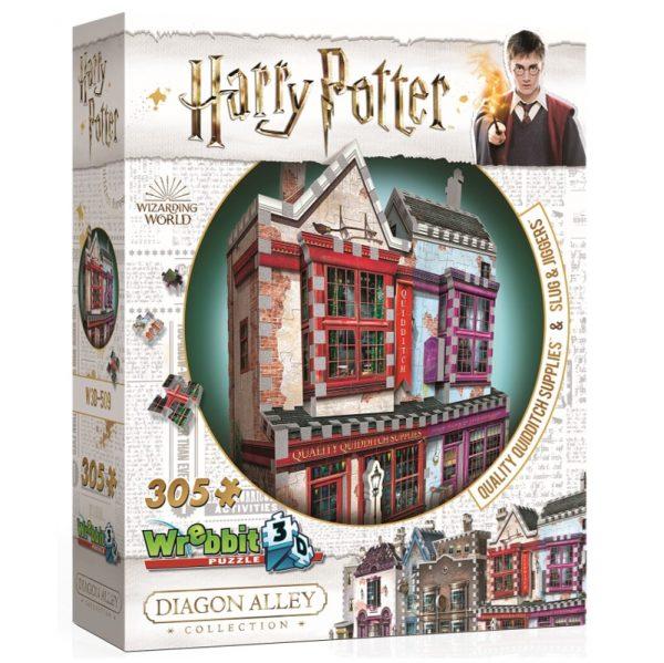 Wrebbit 3D Diagon Alley Collection Quidditch Supplies & Slug & Jiggers Puzzle