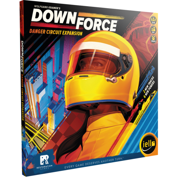 Downforce Danger Circuit Expansion Family Board Game