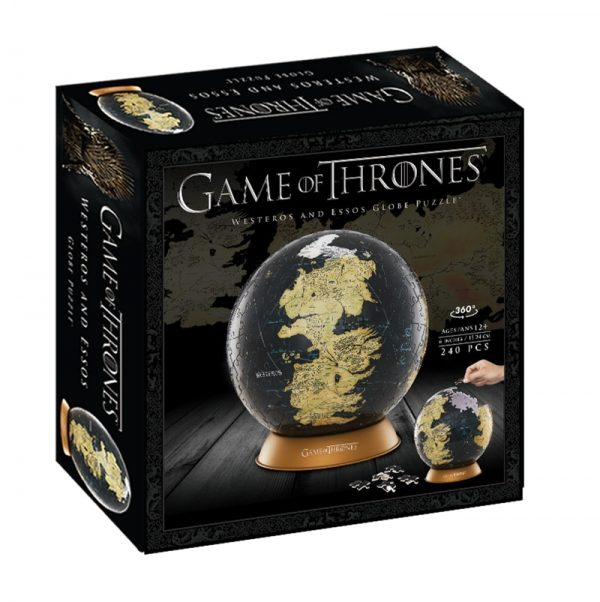 "4D Cityscape Game of Thrones Westeros 6"" Globe Puzzle"