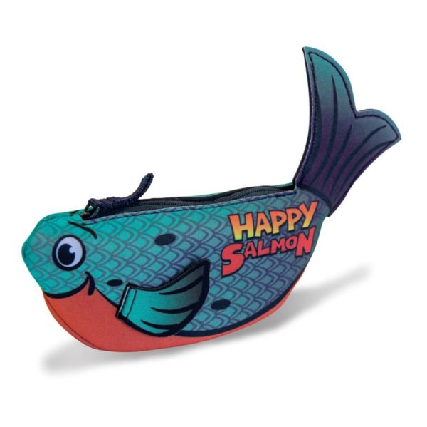 happy salmon blue components fast play board game