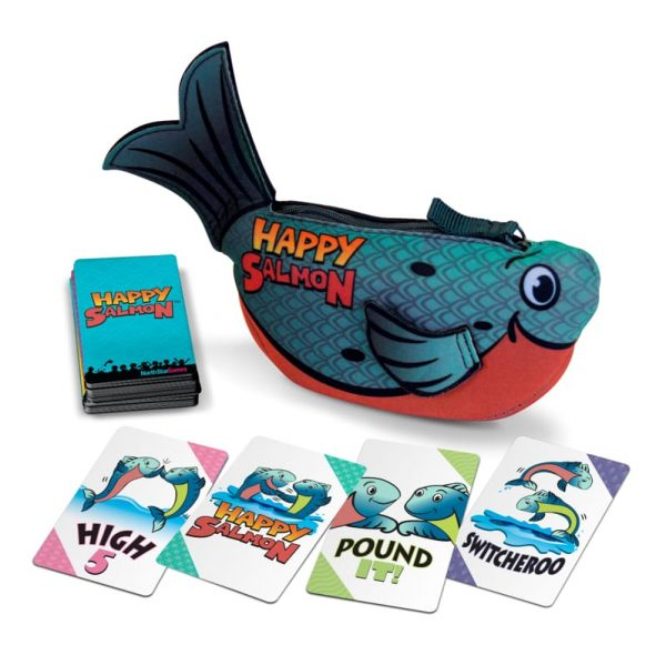 happy salmon blue fast play board game
