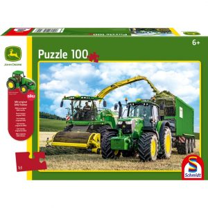Schmidt John Deere 649M Tractor and 8500i Harvester Children's Jigsaw
