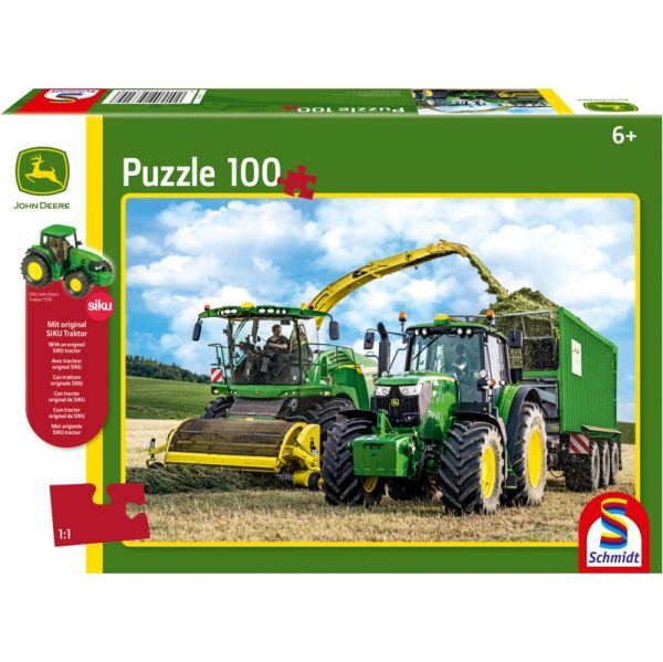 Schmidt John Deere 649M Tractor and 8500i Harvester Children's Jigsaw