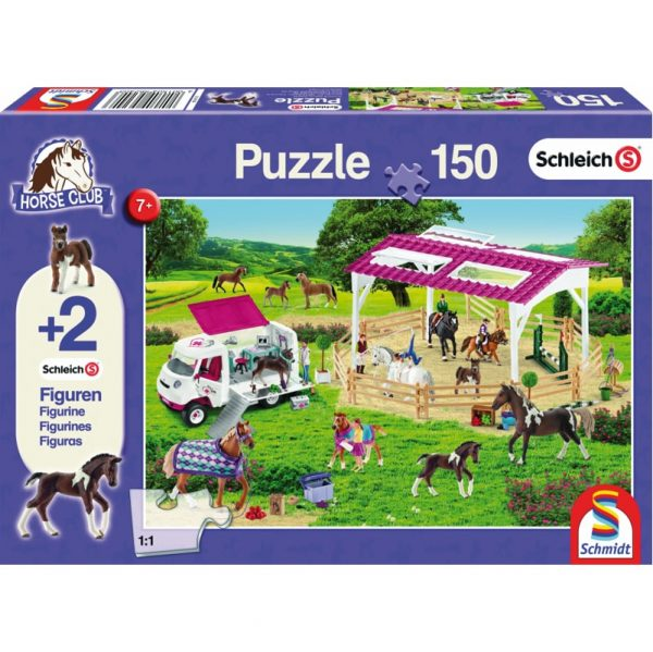 Schmidt Schleich Riding School and Veterinarian Children's Jigsaw