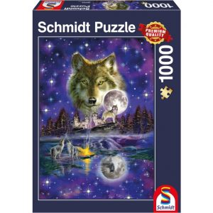 Schmidt Wolf in the Moonlight Jigsaw
