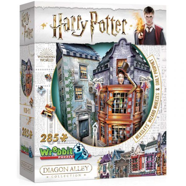 Diagon Alley Weasleys Wizard Wheezes Wrebbit 3D Puzzle