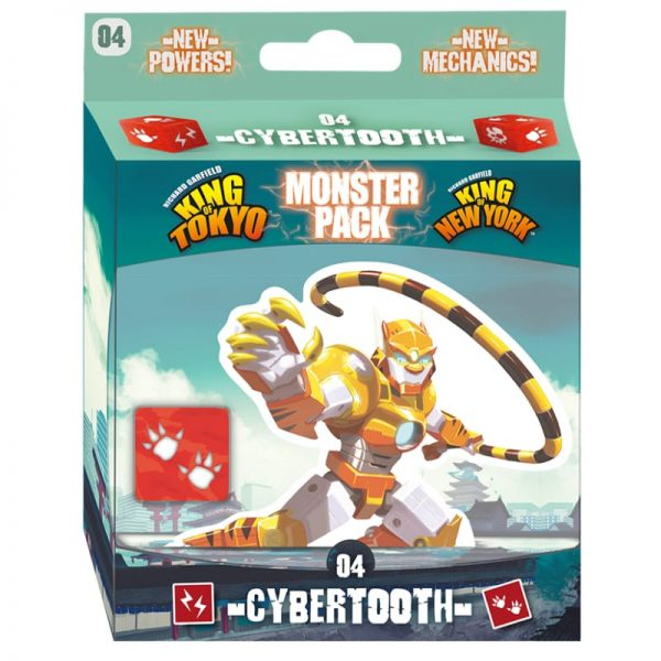 King of Tokyo Monster Pack Cybertooth Family Board Game