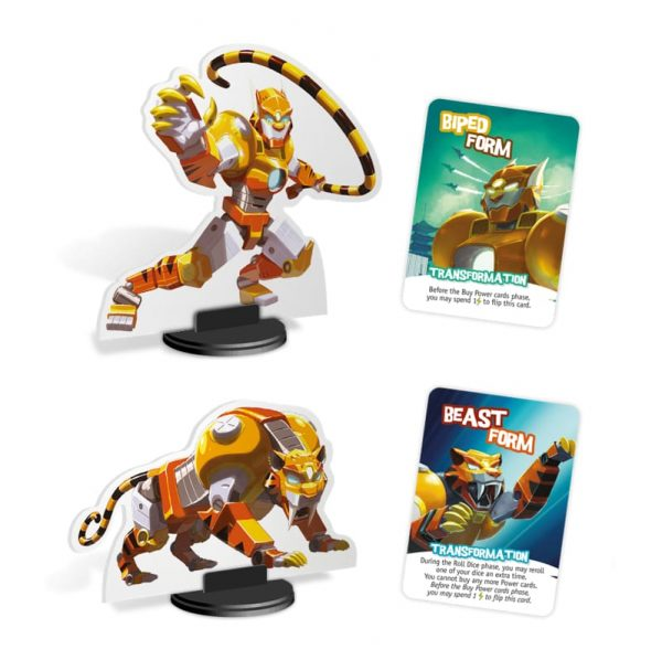 King of Tokyo Monster Pack Cybertooth Components Family Board Game