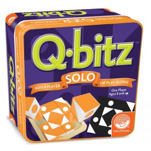 Q-bitz Solo Orange Edition Family Board Game
