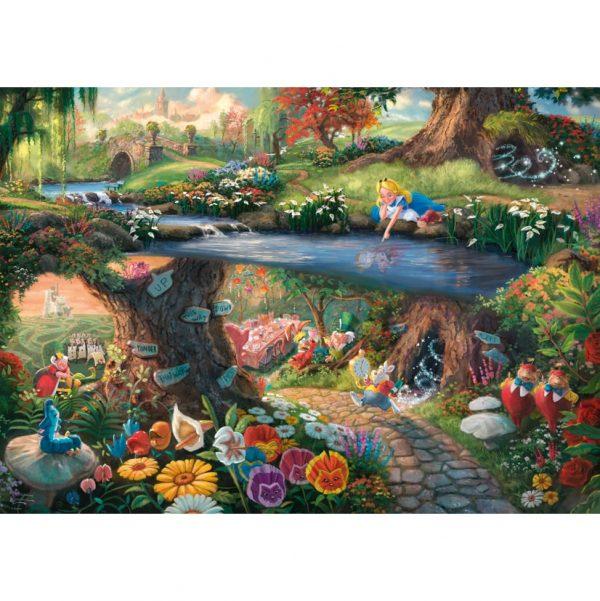 Thomas Kinkade Disney Alice in Wonderland Jigsaw
