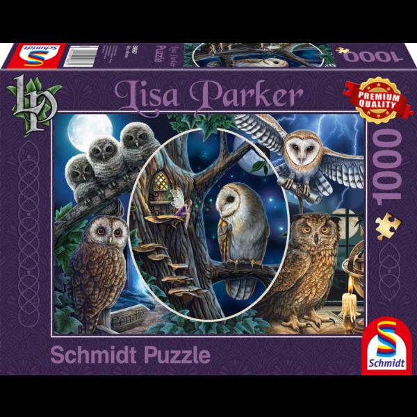 Schmidt Lisa Parker Mysterious Owls Jigsaw Puzzle