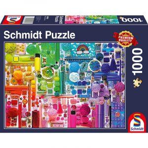 colours of the rainbow 1000pcs schmidt jigsaw puzzle