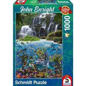john enright under the waterfall 1000pcs schmidt jigsaw puzzle