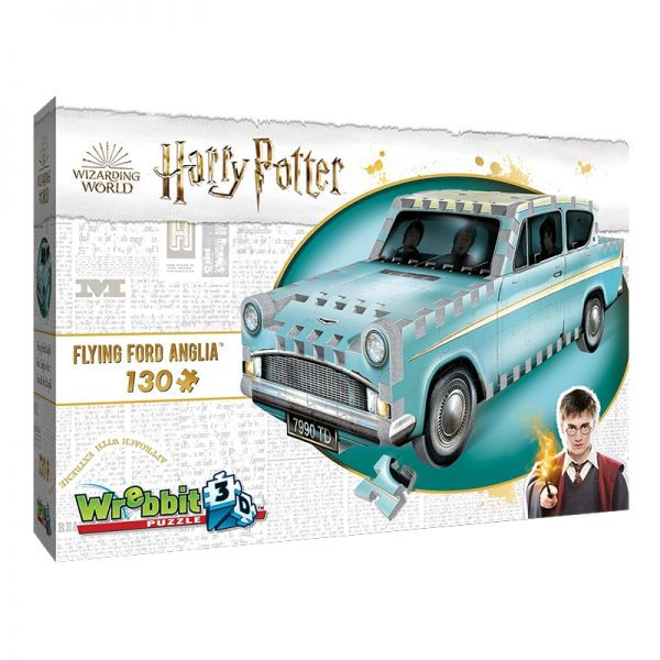 harry potter flying ford anglia wrebbit 3d puzzle