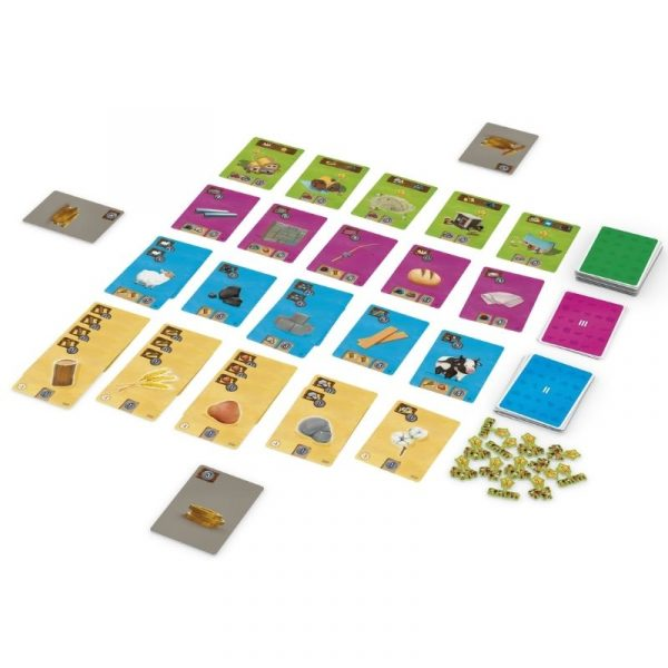 Little Factory Board Game Components