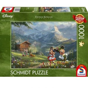 mickey and minnie in the alps puzzle box