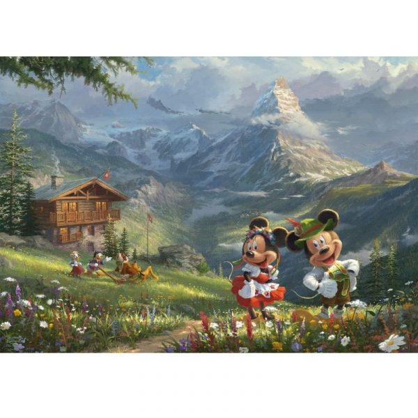 mickey and minnie in the alps puzzle motiv